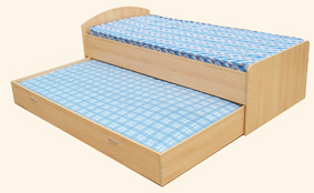CHEAP SINGLE CHILDRENS STORAGE CABIN BEDS (M2410) + TWO MATTRESSES (M2340) - JUST £169.95