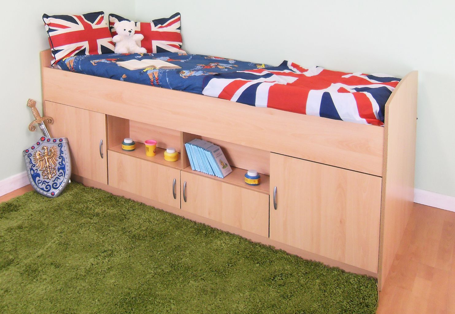 Midi Cabin bed with Colour options ideal children safe bed ...