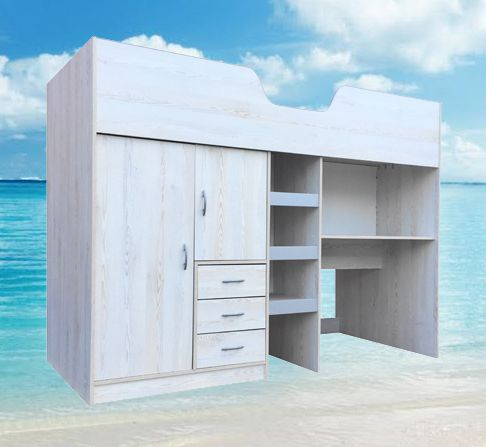 High sleeper cabin bed with colour options ideal kids for Beach hut style