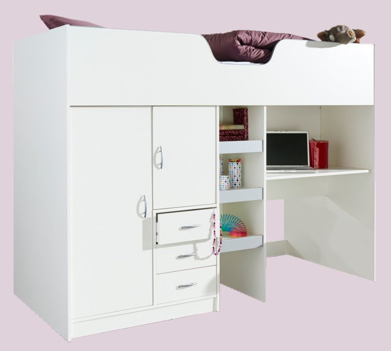Bourne High Sleeper Cabin Bed White