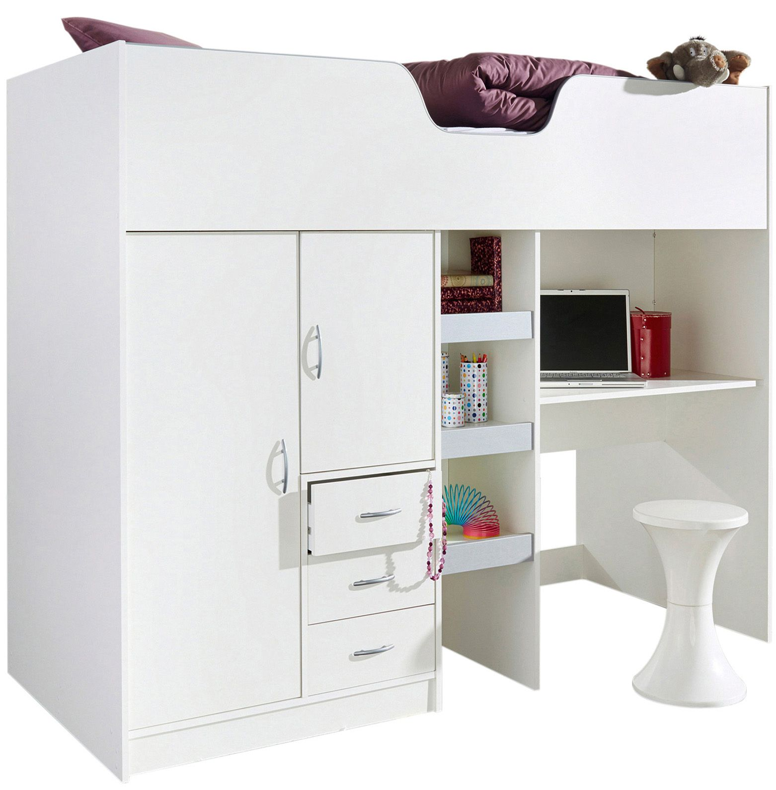High Sleeper Cabin bed, with Colour options ideal kids ...