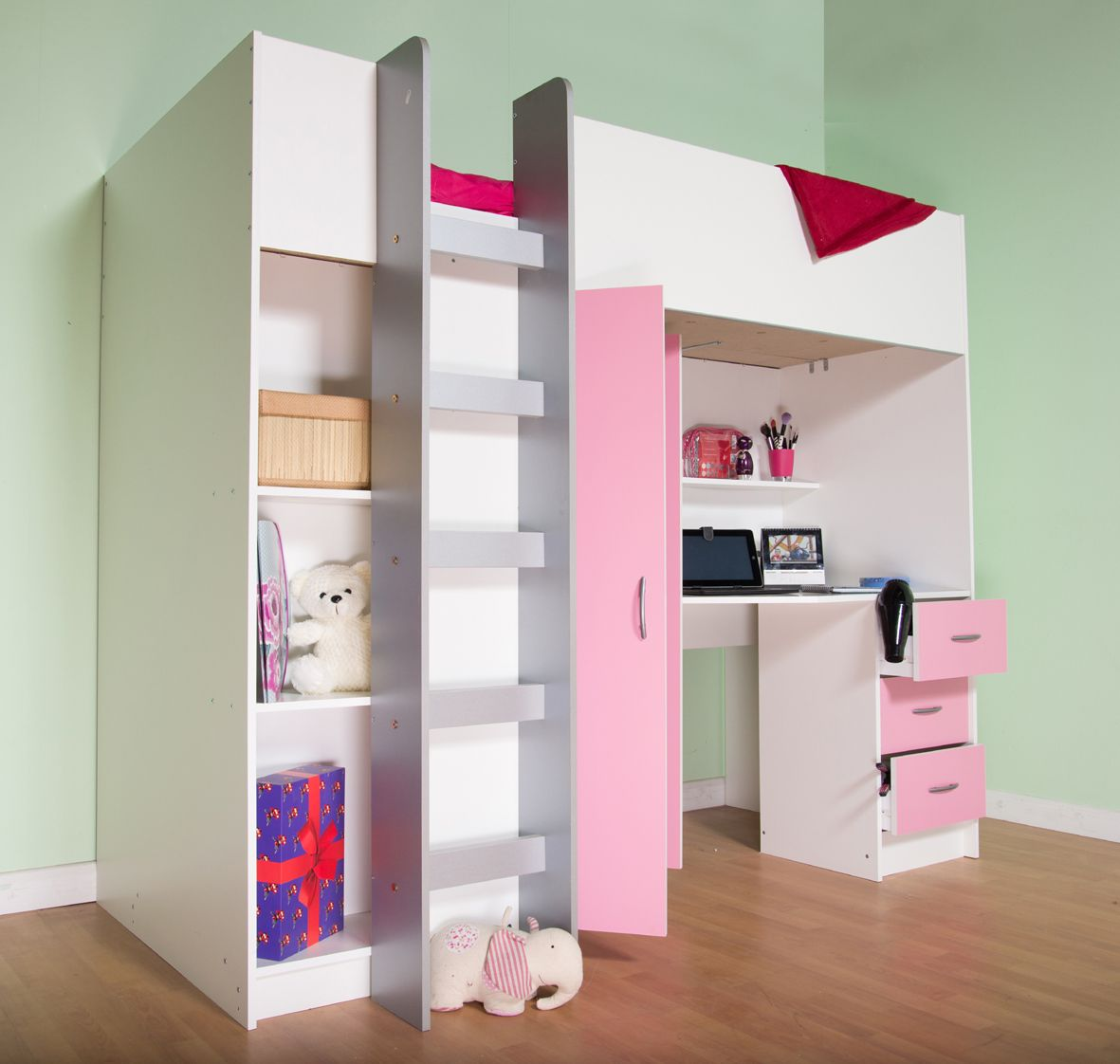 High Sleeper Cabin bed with Colour options ideal childrens ...