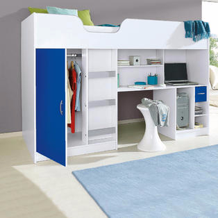 Lifestyle High Sleeper White with Blue