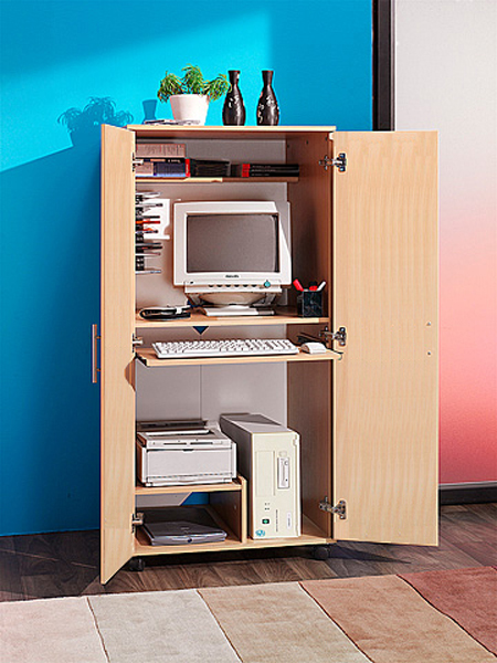 Home office desks cupboards and bookcases for Mobile computer ikea